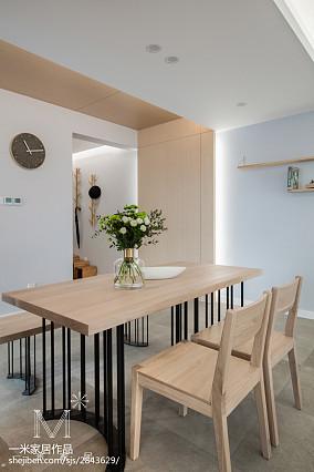 2018精选三居餐厅日式装饰图片大全121-150m²三居日式家装装修案例效果图