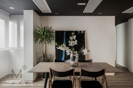 2018精选面积106平简约三居餐厅装修效果图