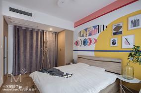 热门面积90平北欧三居卧室实景图片三居北欧极简家装装修案例效果图