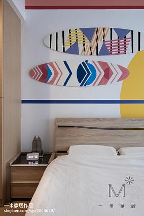 热门面积106平北欧三居卧室欣赏图三居北欧极简家装装修案例效果图