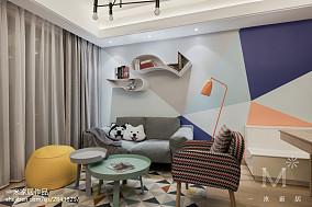 平米三居客厅北欧装饰图三居北欧极简家装装修案例效果图