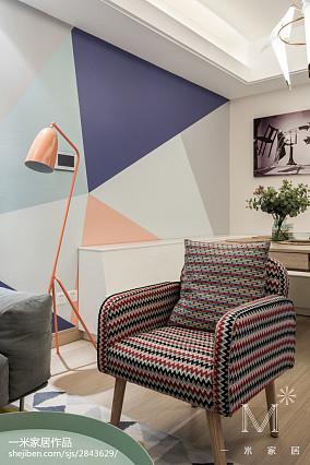 精美93平米三居客厅北欧效果图三居北欧极简家装装修案例效果图
