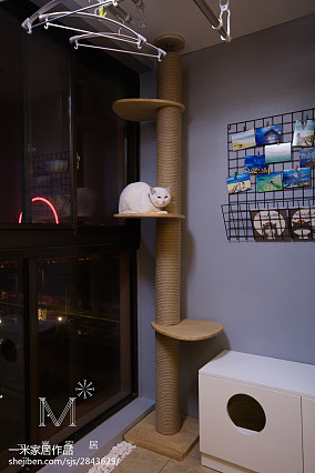 精美90平米三居阳台北欧欣赏图片家装装修案例效果图