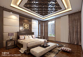 新中式卧室装修图片大全