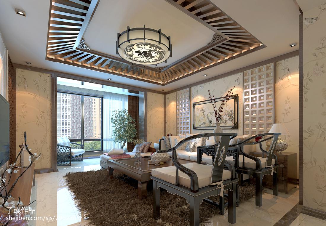 新中式客厅吊顶效果图大全客厅中式现代客厅设计图片赏析