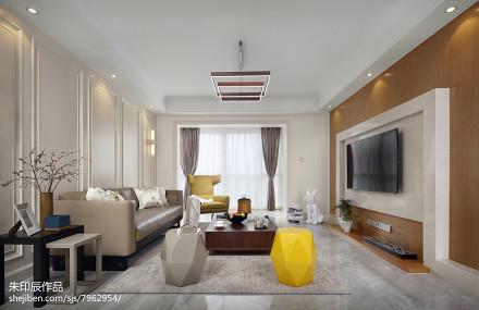 精选113平米四居客厅混搭欣赏图片大全客厅