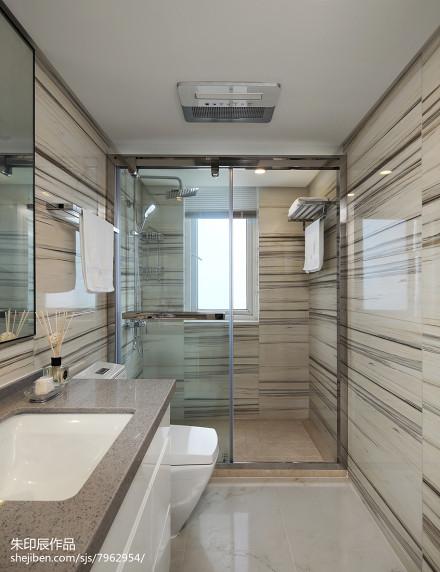 精美136平米四居卫生间混搭装修设计效果图片卫生间