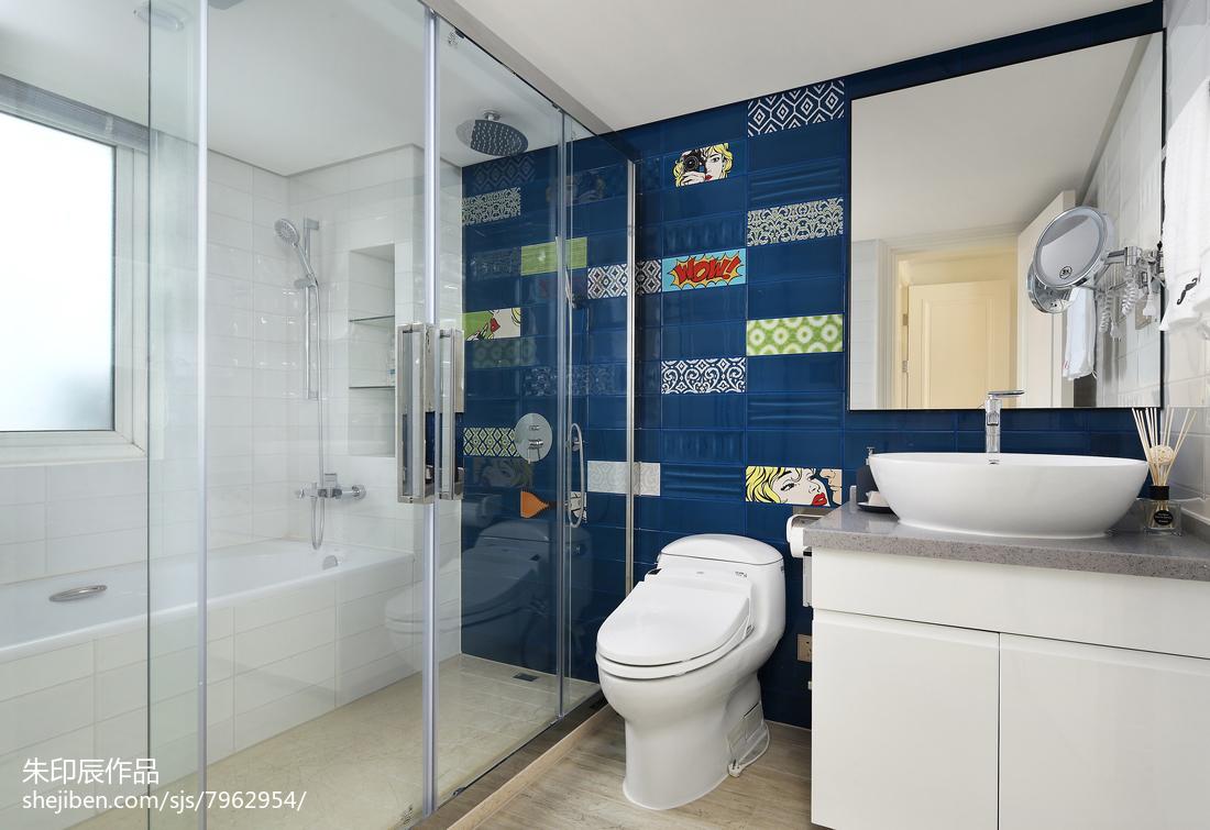 平米四居卫生间混搭装修效果图片大全卫生间