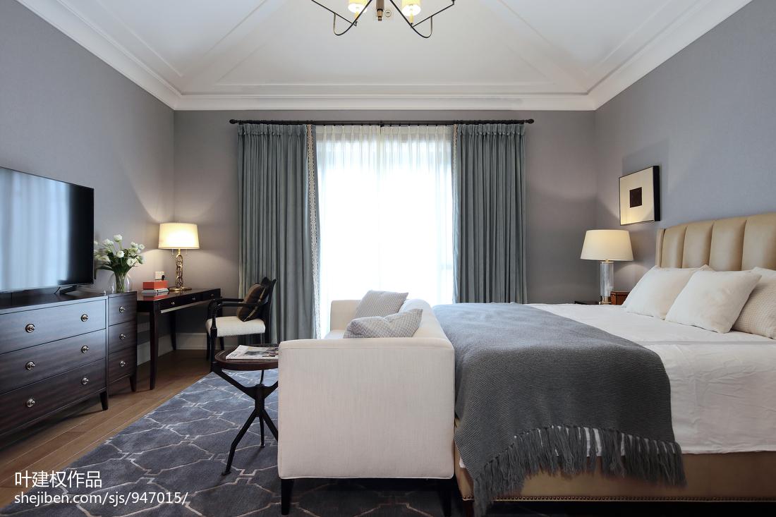 精选别墅卧室美式装修设计效果图片大全卧室