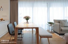 热门90平方三居餐厅现代装修效果图片大全