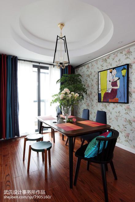 热门现代三居餐厅装修实景图片厨房