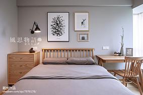 面积136平日式四居卧室实景图片大全