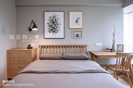 面积136平日式四居卧室实景图片大全卧室
