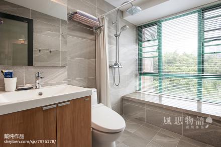 2018面积133平日式四居卫生间装修实景图片卫生间