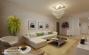 美式风格客厅装修样板间图片
