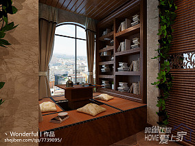 书房立体墙贴效果图