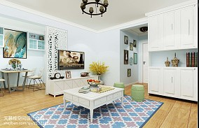 乡村田园风格三室两厅装修设计效果图大全