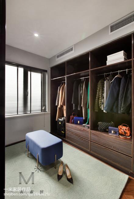 精美面积92平现代三居衣帽间装修效果图片欣赏