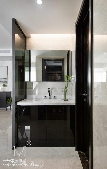 精美100平米三居卫生间现代装修实景图片欣赏