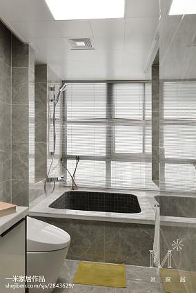 热门99平米三居卫生间现代实景图片欣赏