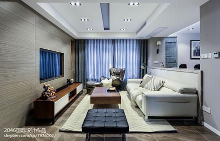 精美三居客厅简约装修效果图三居现代简约家装装修案例效果图