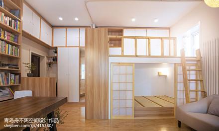 2018精选面积73平小户型卧室日式装修效果图片欣赏一居日式家装装修案例效果图