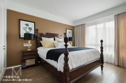 热门99平方三居卧室美式装修图