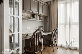精选面积96平美式三居书房设计效果图