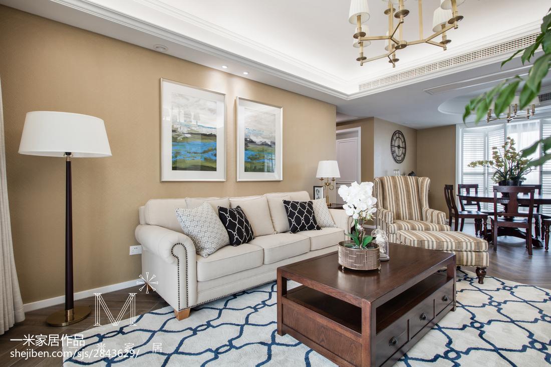 2018大小107平美式三居客厅装修设计效果图片欣赏客厅沙发美式经典客厅设计图片赏析