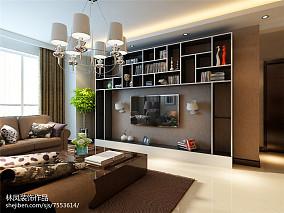 地中海风格两室两厅吊灯装修效果图
