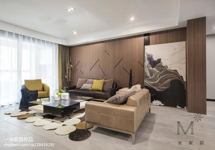 典雅180平现代三居设计案例三居现代简约家装装修案例效果图