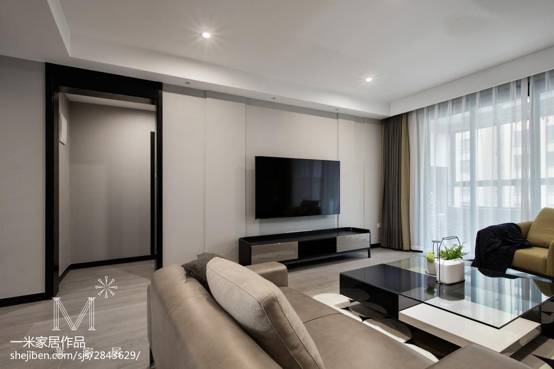 現代港风背景墙装修客厅现代简约客厅设计图片赏析