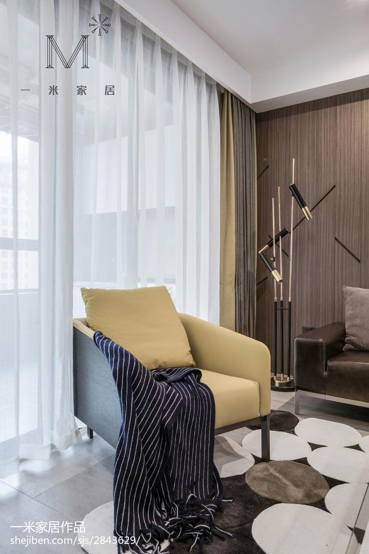 96平大小客厅三居现代装修效果图片大全客厅