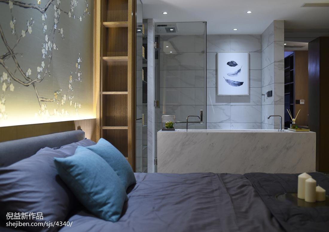 2018面积124平现代四居卧室装修设计效果图片欣赏卧室现代简约卧室设计图片赏析
