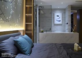 2018面积124平现代四居卧室装修设计效果图片欣赏卧室