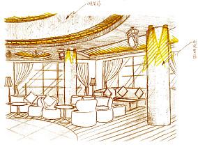 欧式罗马柱客厅