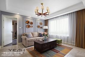 精选95平米三居客厅美式效果图片欣赏
