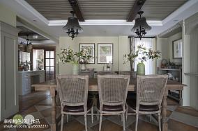 质朴751平田园别墅餐厅实景图厨房美式田园设计图片赏析