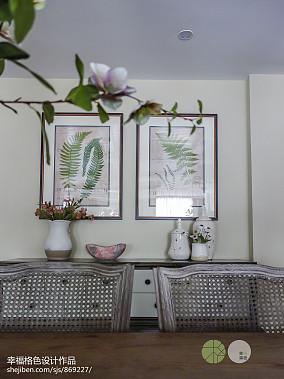 质朴732平田园别墅餐厅装修设计图厨房美式田园设计图片赏析