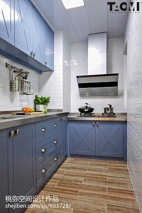 精致63平美式二居装修图餐厅美式经典设计图片赏析