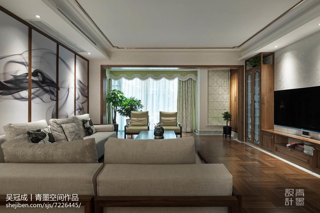 精致50平中式复式客厅装潢图客厅中式现代客厅设计图片赏析