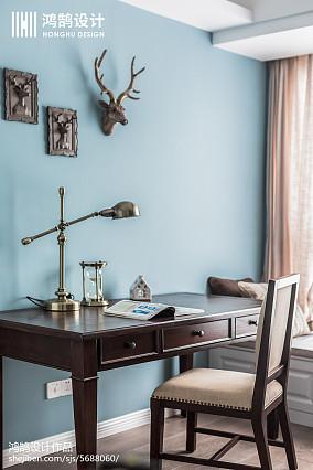 温馨105平美式三居书房实景图三居美式经典家装装修案例效果图