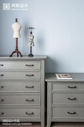 简洁100平美式三居卧室设计美图三居美式经典家装装修案例效果图