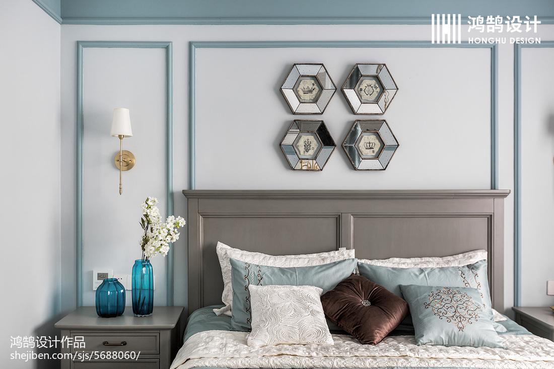 精美73平美式三居卧室图片大全卧室美式经典卧室设计图片赏析