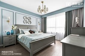 优雅124平美式三居卧室图片欣赏三居美式经典家装装修案例效果图