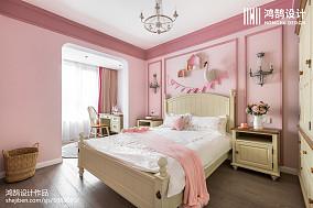 华丽114平美式三居装修美图三居美式经典家装装修案例效果图