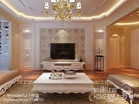 客厅白色欧式家具图片