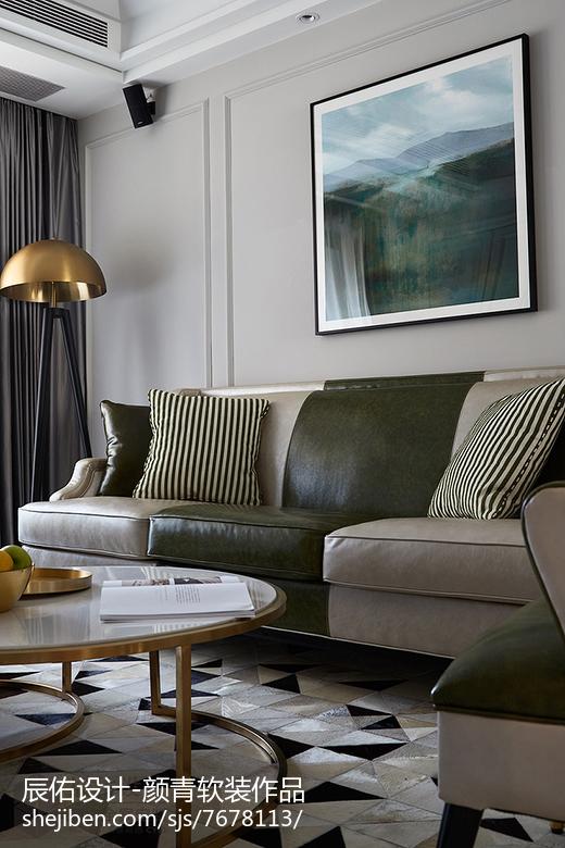 2018精选105平大小客厅三居混搭装修效果图片欣赏客厅1图