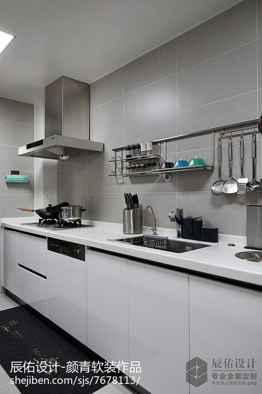 小户型厨房置物架餐厅潮流混搭厨房设计图片赏析