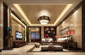 质朴360平中式别墅客厅图片欣赏